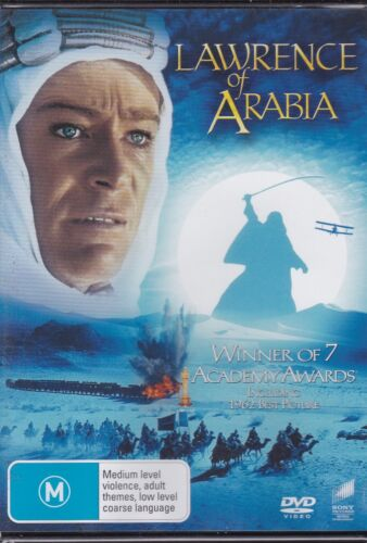 LAWRENCE OF ARABIA - Peter O'Toole, Alec Guinness, Anthony Quinn  - DVD