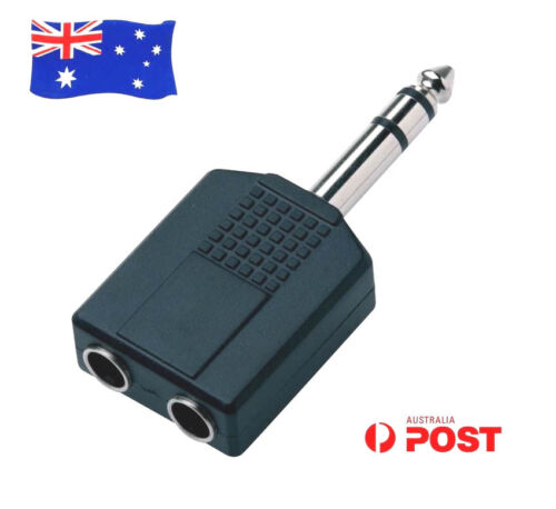 6.5mm AUX Male to 2x Female Y Splitter Connector Audio Socket Adapter Converter