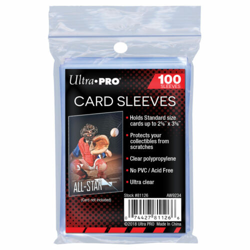 Ultra Pro Premium Trading Card Sleeves Clear Plastic Penny Protector Pack of 100
