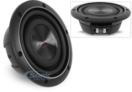 """Pioneer TS-SW2002D2 600 Watts 8"""" TS Dual 2 ohm Shallow Mount Car Audio Subwoofer"""