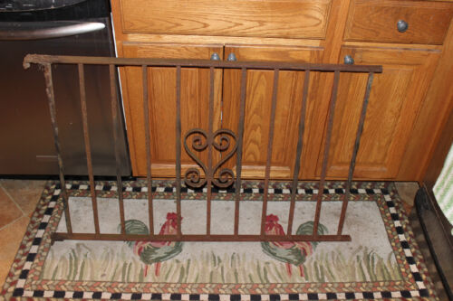 Vintage Wrought Cast Iron Architectural Garden Yard Art Fence Railing