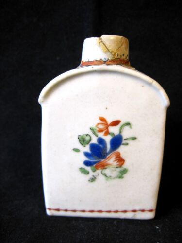 Antique 18th Century Chinese Export Porcelain Tea Caddy Famille Rose Fencai