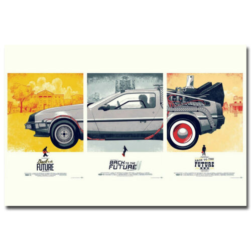 Back To the Future 1 2 3 Classic Movie Silk Poster 12x18 24x36 inch 001