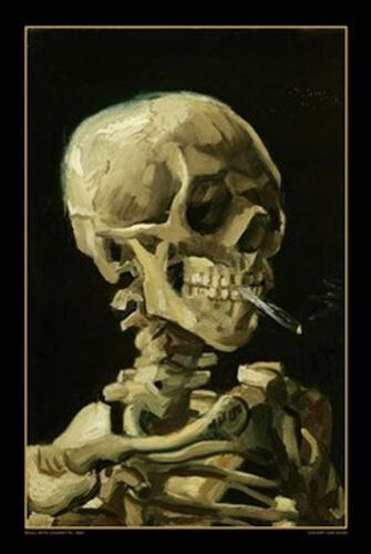 SMOKING SKULL - VAN GOGH ART POSTER - 24x36 - 618