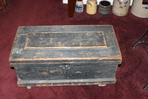 Antique Carpenters Wood Tool Storage Trunk Chest-Large-Handmade Storage Chest