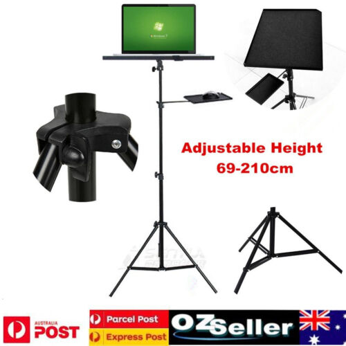 Tripod Stand For Notebook / Laptop Projector / Adjustable Height + Tilt Tray AU