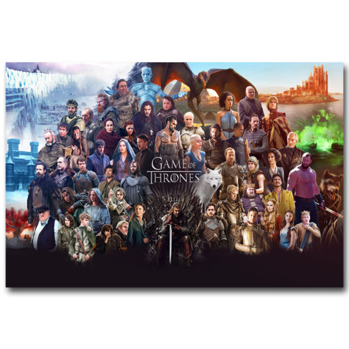 Game Of Thrones TV Shows Season 6 Silk Poster 12x18 24x36 inches All Characters