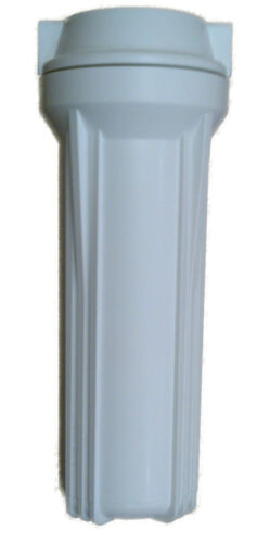"""10"""" Water Filter Housing with 1/4"""", 1/2"""", 3/4"""" Ports, Clear, White, Blue, PRV"""