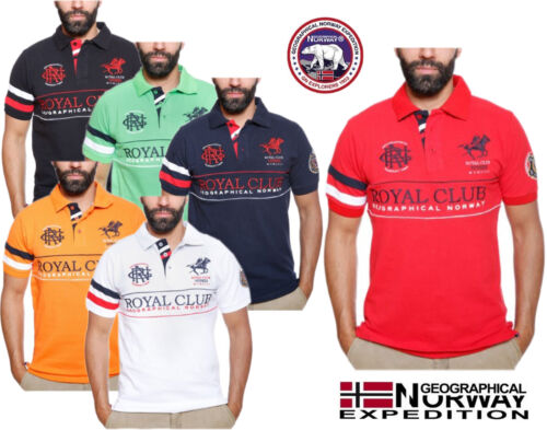 OFFICIAL GEOGRAPHICAL NORWAY MEN'S SHORT SLEEVE POLO SHIRT - AUTHORISED UK STOCK