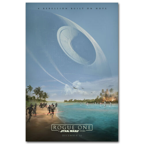 "Rogue One A Star Wars Story Movie Silk Poster 12x18"" 24x36"""