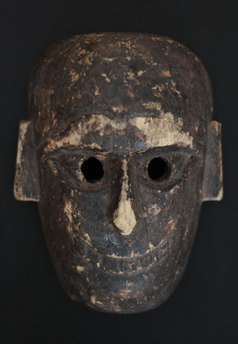 Superb antique NEPAL tribal mask, shamanism