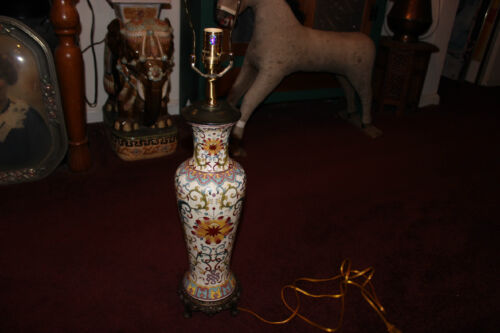Stunning Asian Chinese Antique? Vase Converted Lamp-Detailed Patterns-LQQK
