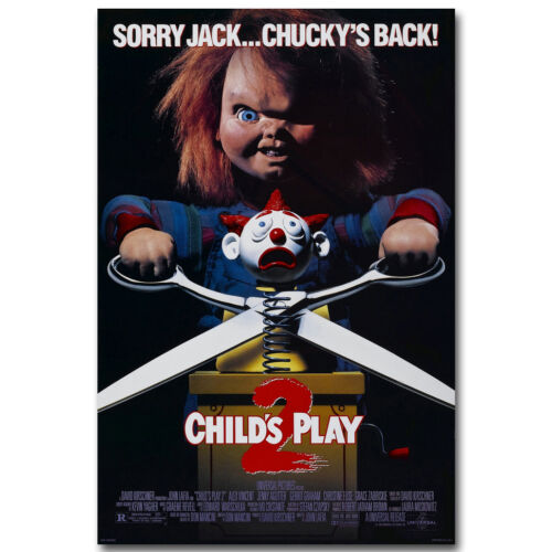 CHILDS PLAY 2 Horror Movie Silk Poster 12x18 24x36 inch