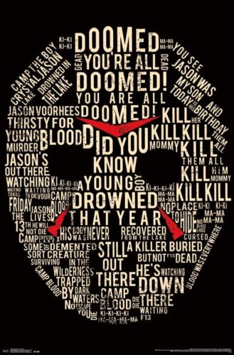 FRIDAY THE 13TH - MASK POSTER - 22x34 MOVIE 14530