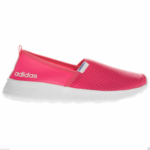 Adidas Women's Lite Racer Slip On Low Top Running Casual Pink Trainers B-Grade