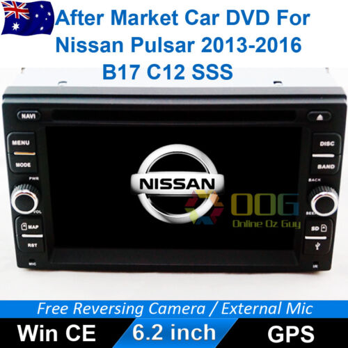 "6.2""Car DVD GPS Navigation Head Unit Stereo For Nissan Pulsar 2013-2016 B17, C12"