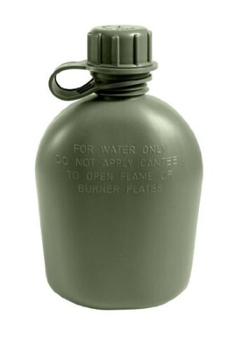 USGI 1 Quart Canteen OD Green 3 Piece Plastic BPA Free Made in USA NEW