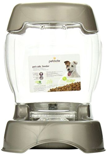 Petmate Pet Cafe Automatic Dog Cat Feeder 3 lbs. Dispenser Food New .