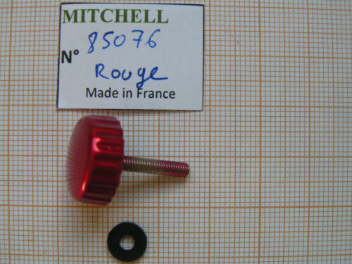 BOUTON MANIVELLE ROUGE MITCHELL FULL CONTROL & autres MOULINETS KNOB PART 85076