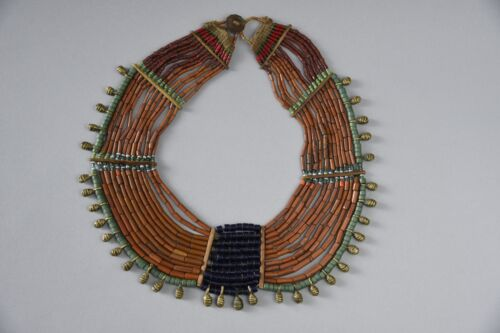 Extremely Rare Authentic 19th century Naga Necklace Konyak Tribe Beads