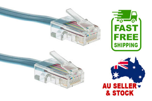 NEW 6ft/1.8m Cisco Rollover Electronics Cable RJ45 M/M Blue FAST FREE SHIPPING!
