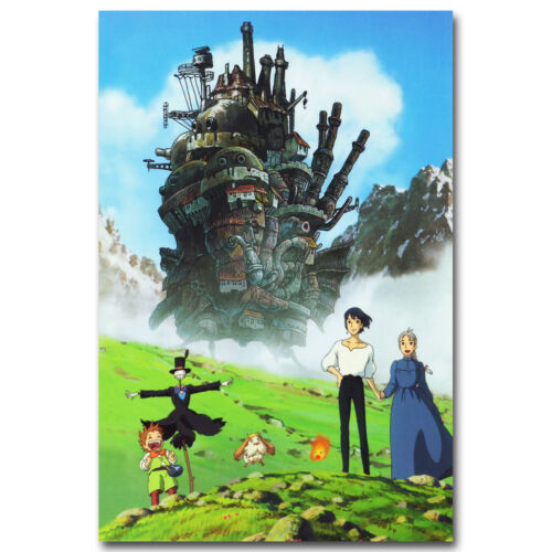 Howls Moving Castle 2004 Cartoon Movie Silk Poster Print 12x18 24x36 inch 002
