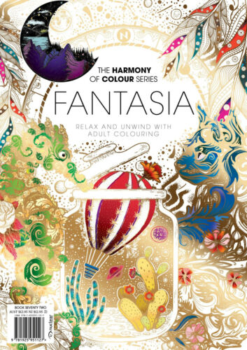 Harmony of Colour Book 57 Pixies and Fairies Adult Colouring 36 Designs NEW