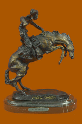 Frederick Remington Wooly Chaps Bronze Statue Horse Western reproduction GIFT