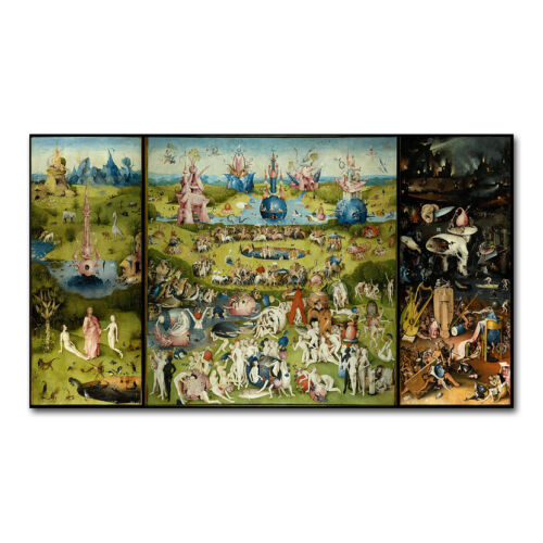 The Garden Of Earthly Delights HIERONYMUS BOSCH Art Silk Poster 12x21 24x43 inch