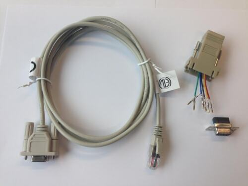 Serial Cable kit (DE-9 to RJ12 connector cable & RJ12 to DE-9 adaptor)