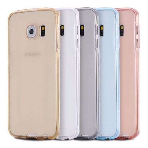 360° Full Body Cover Shockproof Slim Soft Silicone Rubber Case For Samsung Phone