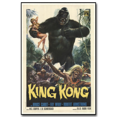 King Kong Classic Movie Vintage Silk Poster 12x18 24x36 inches