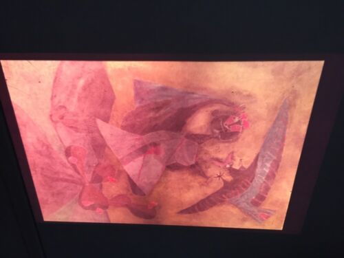 """Rufino Tamayo """"Girl Attacked By Bird"""" Mexican Modern Art 35mm Glass Slide"""