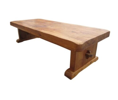 Antique Furniture French Antique Rustic Oak Arts and Crafts Coffee Table