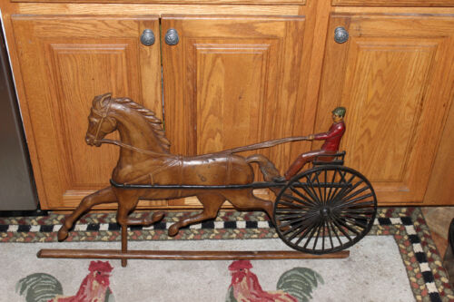 Vintage Ethan Allen Weather Vane Wall Decor Jockey & Horse-Large Size-Country
