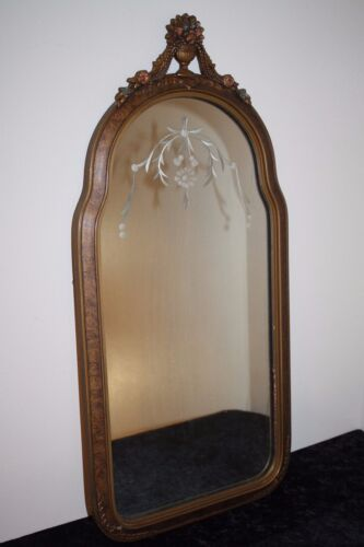 Antique Etched Mirror Antiques Us