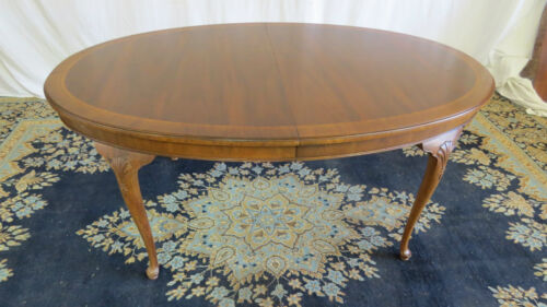 Henredon Dining Room Table 18th Century Portfolio Mahogany 2 Leaves Set