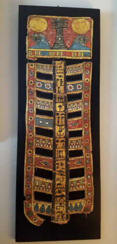 SUPERB TRANSLATED ANCIENT EGYPTIAN MUMMY CARTONNAGE HIEROGLYPHS HORUS