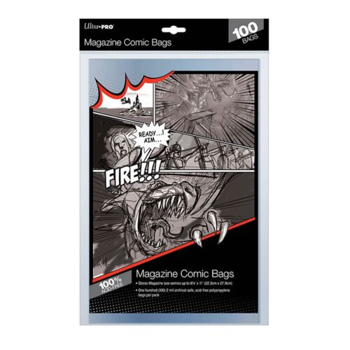 Ultra Pro Comic Series Magazine Size Bags Sleeves Acid Free Ultra Clear x 100
