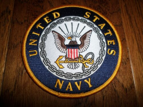 """NEW U.S.MILITARY NAVY EMBROIDERED PATCH UNITED STATES NAVY 4"""" X 4"""" FULL COLORNavy - 48826"""