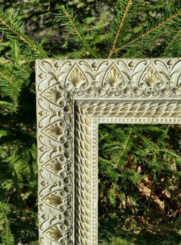 LARGE Ornate White & Gold VICTORIAN ACANTHUS  Antique Painting Frame #2
