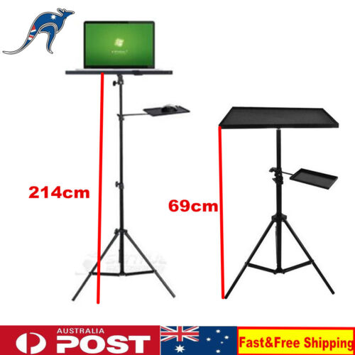 Adjustable Tripod Laptop Stand With Tray For Notebook Computer Projector AU