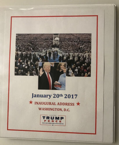 ON HOLD –ITEM DJT004 - INAUGURATION SPEECH - PRESIDENT DONALD TRUMP - 1/20/2017