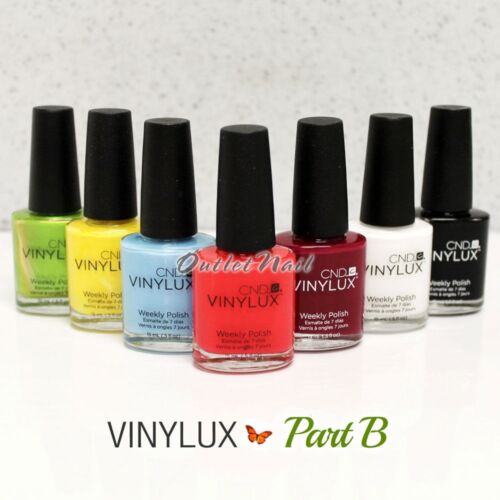 PART B ! CND VINYLUX Weekly Nail Polish Lacquer Collection Match Shellac GENUINE