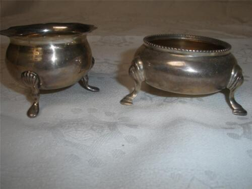 RETRO VINTAGE SILVER PLATED SMALL FOOTED BOWLS X 2