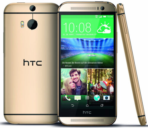 """New HTC One M8 AT&T Unlocked 4G LTE GSM 32GB 5"""" Android Smartphone Gold"""
