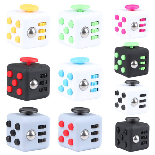 Fidget Toy Cube Stress Anxiety Relief Desk Toy EDC 6 Sided For Adults Kids Focus <br/> Free Shipping* Guaranteed Cheapest on eBay in USA