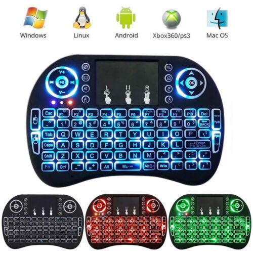 Mini i8 2.4GHz 3 Colors Backlit Wireless Keyboard Touchpad for PC TV Box Android