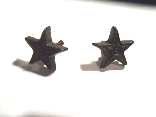 Set of 2 Primitive Rustic Cast Iron Star Knobs/Cabinet Pulls PRIM/LODGE/COUNTRY