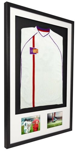Vivarti 3D Mounted+Double Aperture Sports Shirt Display Frame Kit-Football,Rugby <br/> ✔️UK Made  ✔️Fast & Free Postage  ✔️Various Frame Sizes